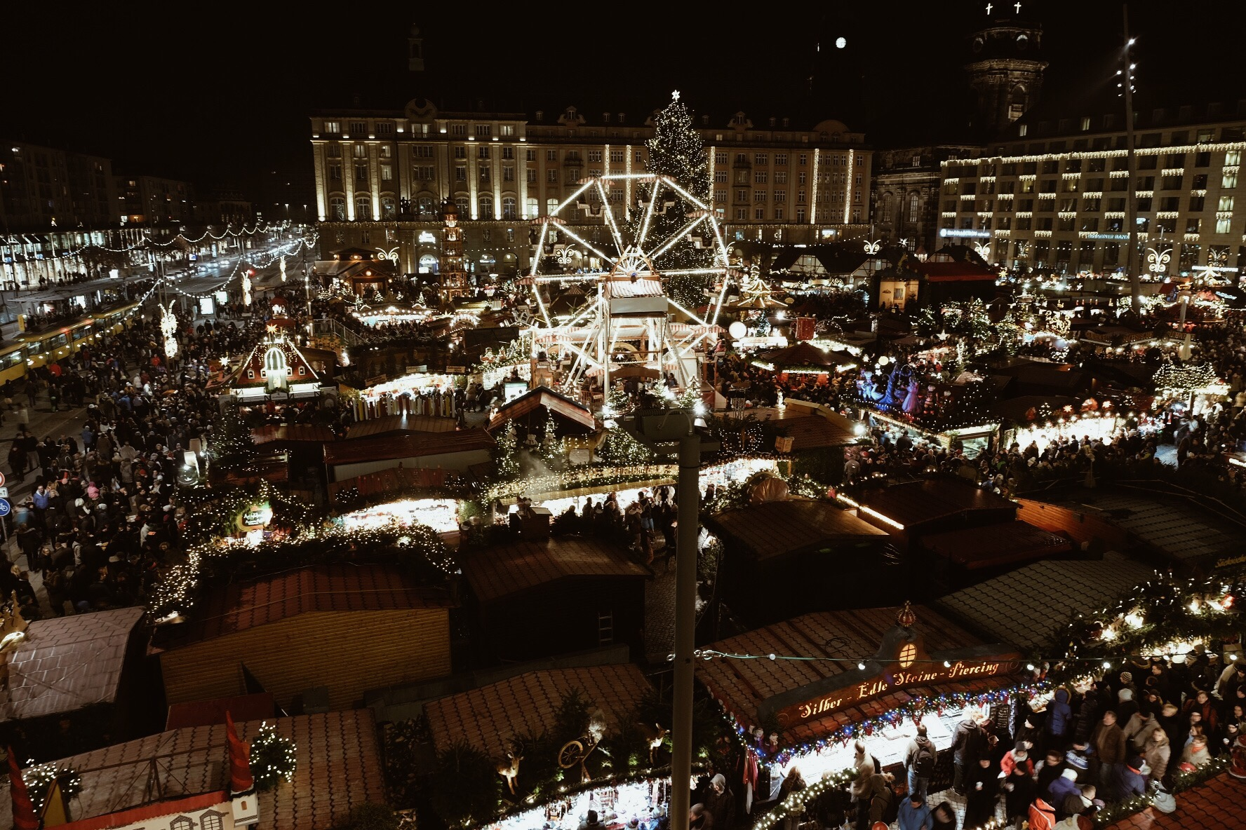 The Striezelmarkt in Dresden, Germany